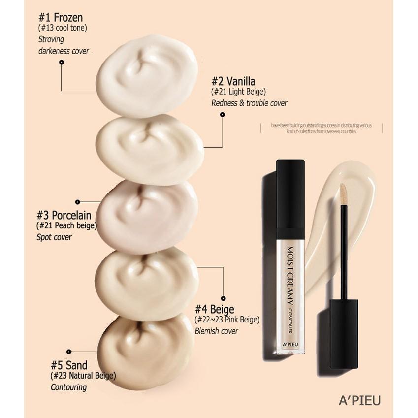 Kem che khuyết điểm A'PIEU Moist Creamy Concealer 7g