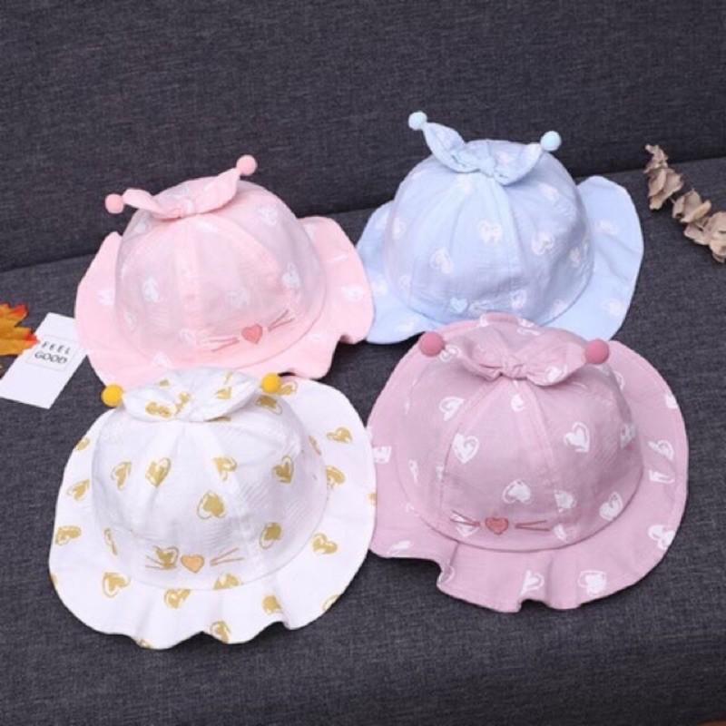 Mũ nón đi nắng cho bé ❤️Mũ tai bèo cho bé gái ❤️ Mũ nón có vành cho bé đi nắng ❤️ Mũ xinh cho bé trai bé gái