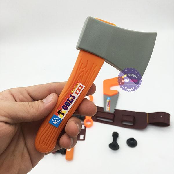 Bộ đồ chơi nón bảo hộ & dụng cụ sửa chữa có dây đeo túi lưới - ĐỒ CHƠI CHỢ...