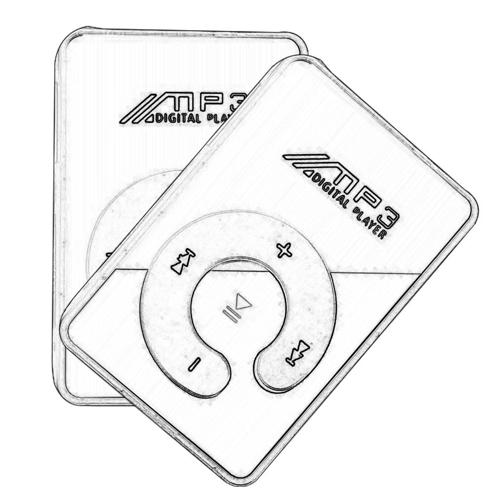 Máy nghe nhạc mp3 mini dạng kẹp hỗ trợ thẻ micro sd tf âm thanh hifi