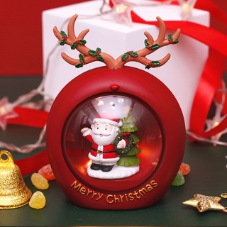 Christmas Gifts Santa Claus Star Lights Deer Atmosphere Lights Christmas Event Desktop Decoration Children's Eve Gifts