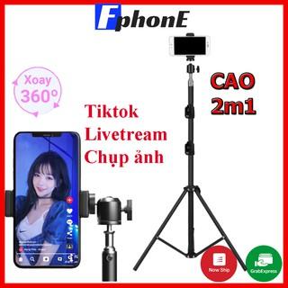 Gậy chụp hình, giá đỡ điện thoại livetream TikTok, Tripod 3 chân đèn live tream máy ảnh điện thoại Fphone