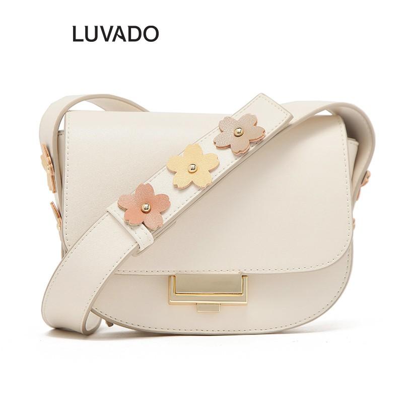 Túi đeo chéo nữ đi chơi MICOCAH da mềm cá tính dễ thương nhiều ngăn LUVADO TX557