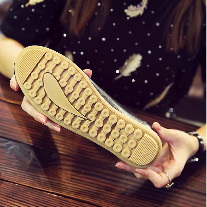 Giày Lười Nữ Giày Mọi Nữ Bằng Da (SP46) Chất Liệu Da Mềm Mại Cao Cấp