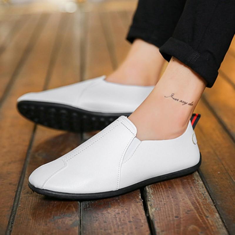 (พร้อมส่ง ของถึงไทยเเล้ว) รองเท้าโลฟเฟอร์ หนัง PU แฟชั่นสำหรับผู้ชาย