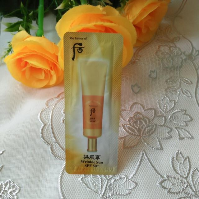Combo 10 gói Kem chống nắng cải thiện nếp nhăn Whoo Wrinkle Sun Cream SPF50+/PA+++