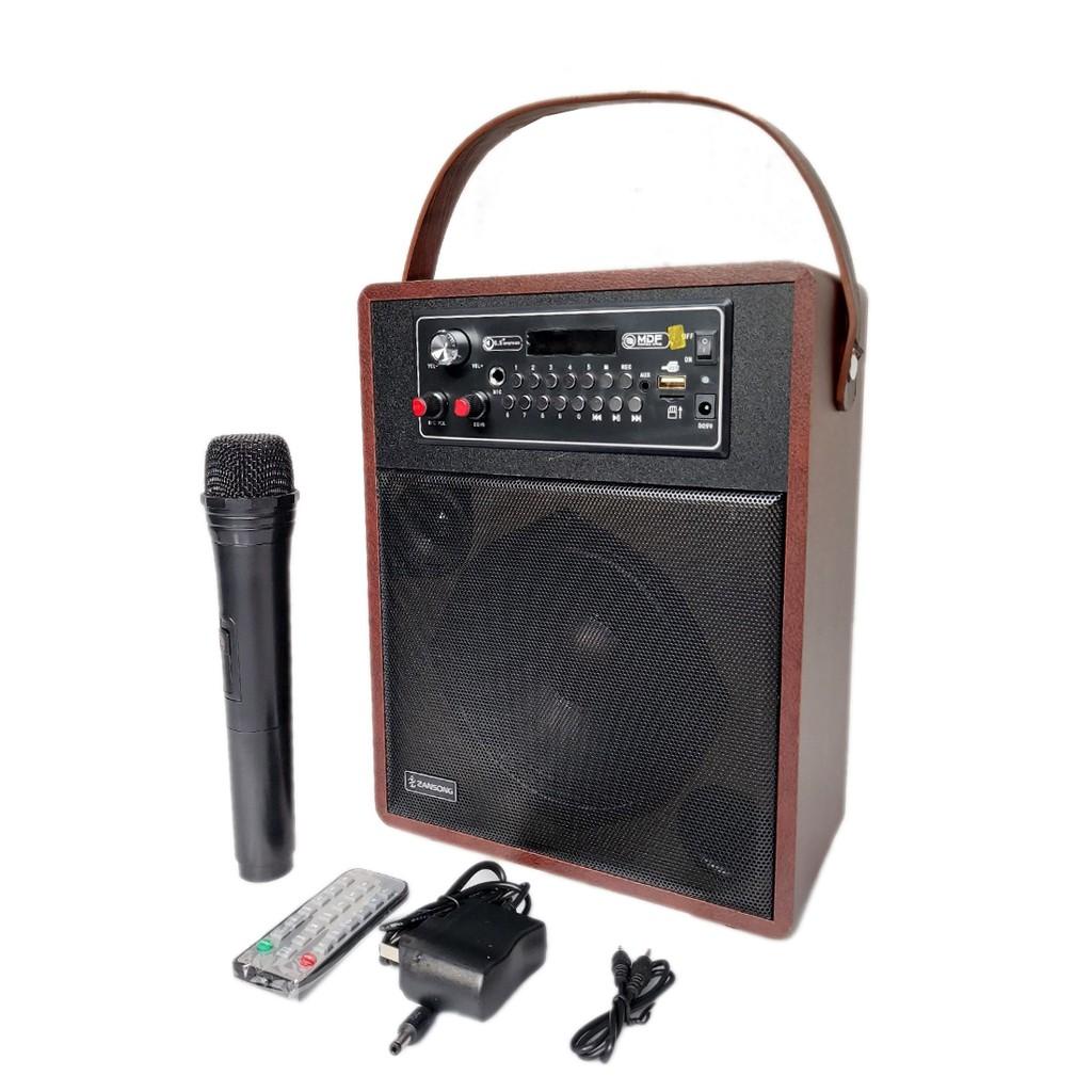 Loa Karaoke Loa trợ giảng Bluetooth Zansong A062 +A061 Mini  mẫu mới (tặng micro không dây) S89