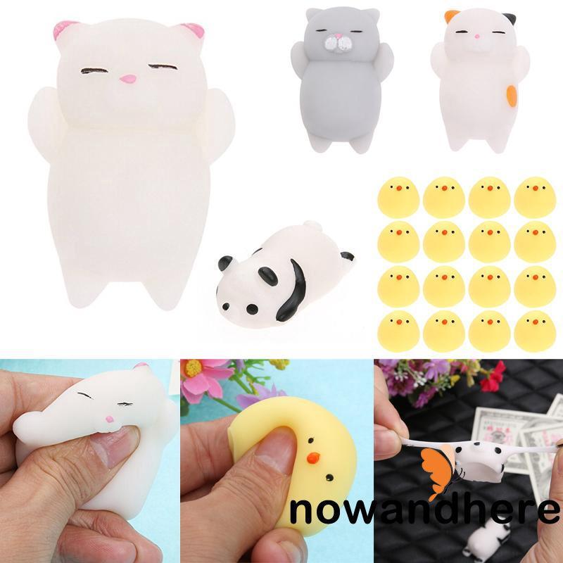 NHD-Fashion 16Pcs/Set Cute Mini Animal Seals Healing Toy Squishy Stress Relief