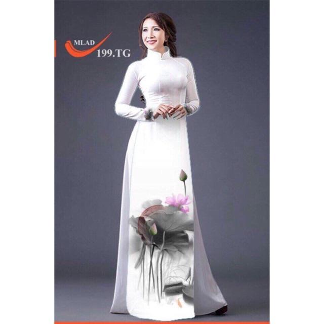 Vải áo dài hoa sen - 9924599 , 414002280 , 322_414002280 , 220000 , Vai-ao-dai-hoa-sen-322_414002280 , shopee.vn , Vải áo dài hoa sen