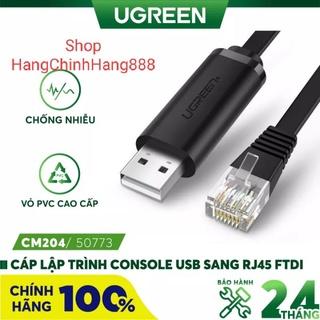 Cáp lập trình Console USB to RJ45 FTDI cao cấp Ugreen 50773 - Hàng chính hãng thumbnail