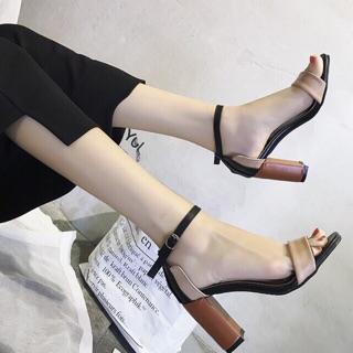 Giày SANDAL gót vuông 7 phân phối da bò cực xinh