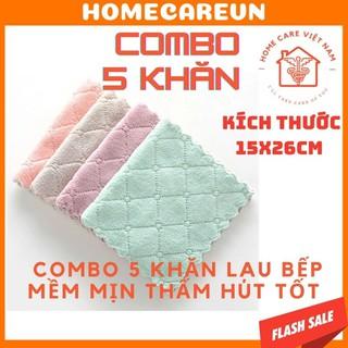 [Mã 157FMCGSALE giảm 8% đơn 500K] Combo 5 chiếc khăn lau 2 mặt đa năng - thấm hút nước tốt - mềm mịn, kháng khuẩn thumbnail