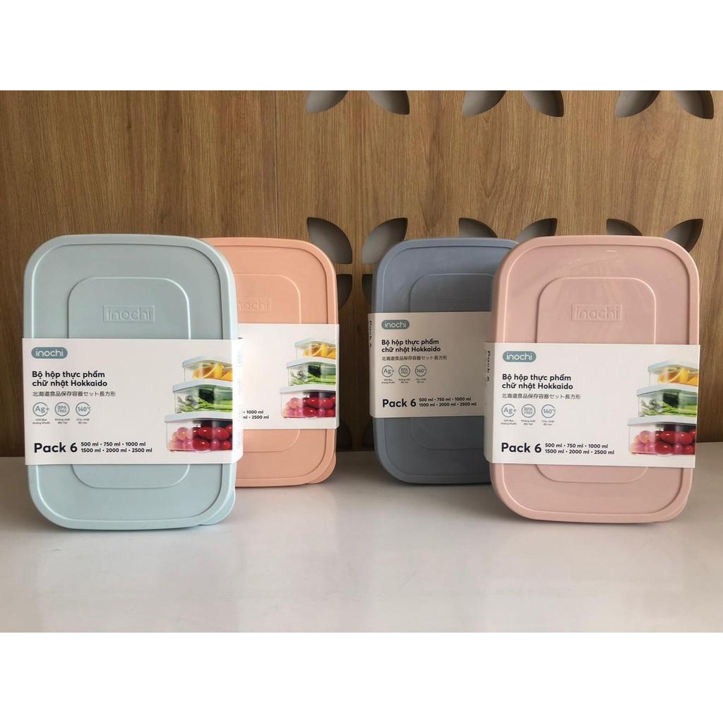 Hộp thực phẩm chữ nhật Hokkaido xuất Nhật Bản, nhựa nguyên sinh Chịu nhiệt từ -20°C đến 120°C