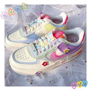Dây giày thể thao vải canvas nhiều màu đáng yêu phong cách Hàn Quốc