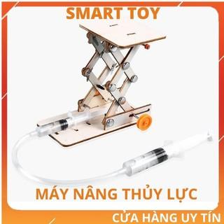 Đồ chơi trẻ em vận động lắp ráp máy nâng thủy lực bằng gỗ cho bé trai bé gái phát triển kỹ năng khoa học sáng tạo STEM thumbnail
