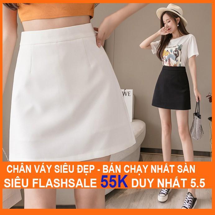 [Mã WAMT10K giảm 10K đơn 0K] Chân váy chữ A ngắn lưng cao MADELA có quần lót, Chân váy ngắn nữ 2021
