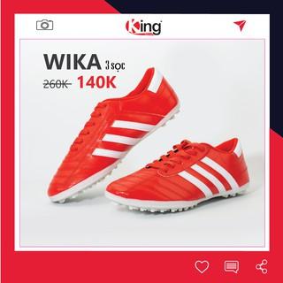 Giày đá bóng 3 sọc WIKA sân cỏ nhân tạo Chính hãng đinh TF tốt giá rẻ thumbnail
