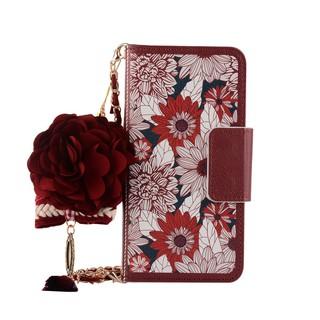 Bao da điện thoại iphone 5 6 7 8 plus X dạng ví hoa hướng dương cầm tay thời trang cho nữ