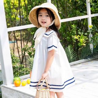 Váy trẻ em thủy thủ trắng cho bé gái Sophia V31