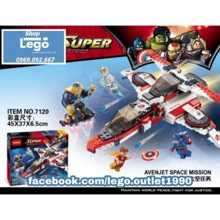 Xếp hình Lego cuộc chiến phi thuyền Avenjet Avengers