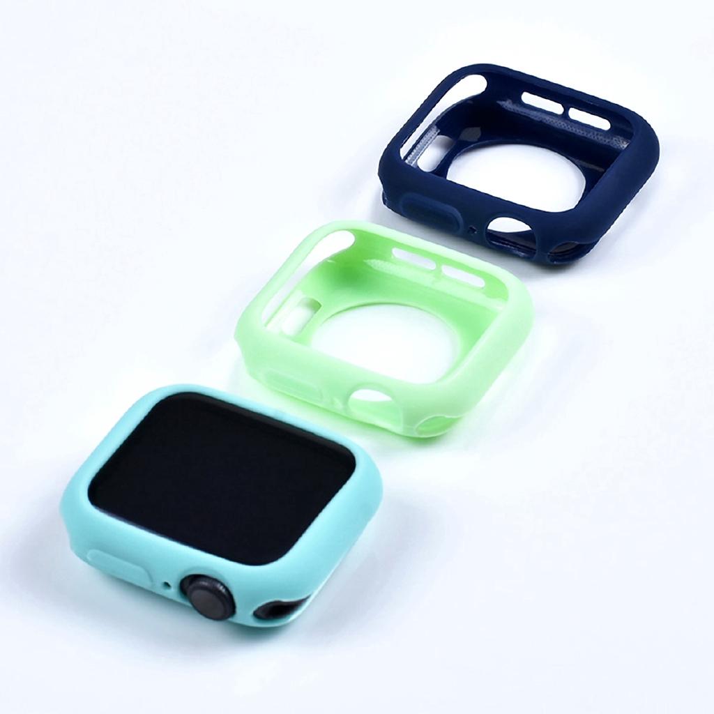 Ốp silicone mềm màu trơn cho đồng hồ thông minh Apple 42mm 38mm 40mm 44mm Iwatch Series 5 3 2 1