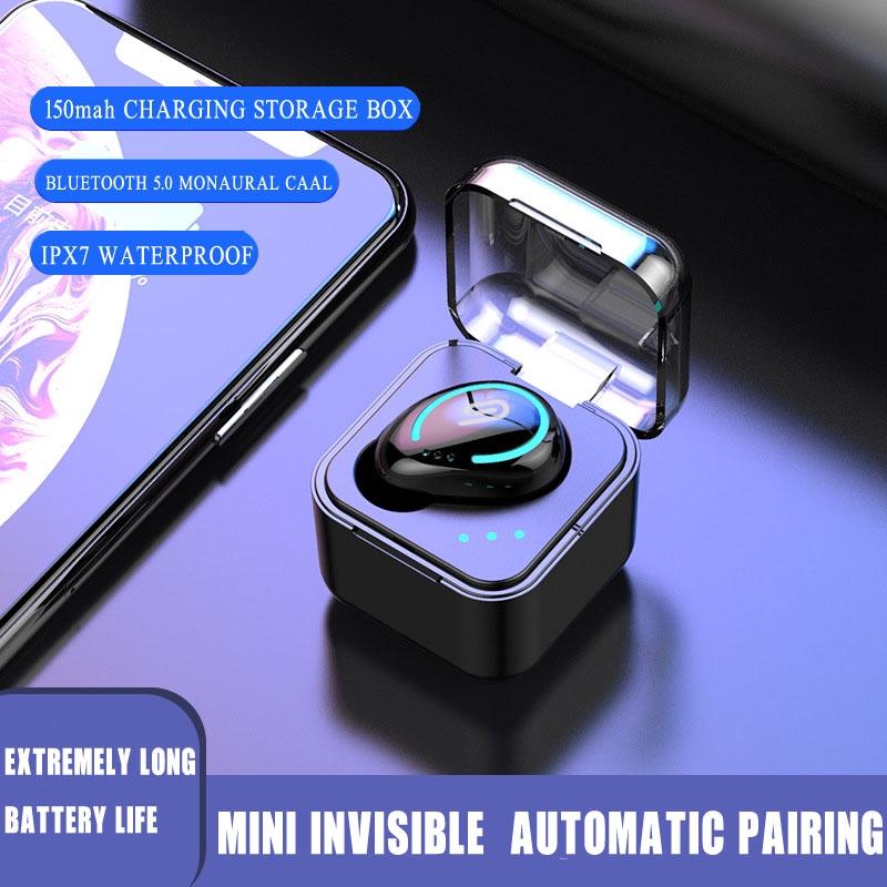 Tai nghe Bluetooth M-B8 TWS 5.0 Tai nghe kép không dây thực sự với màn hình kỹ thuật số Thể thao chống nước