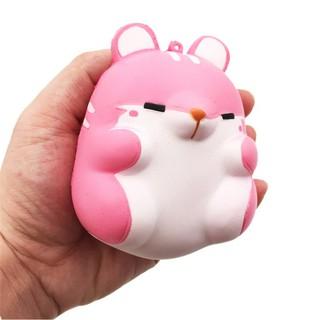 Squishy – Chuột hamster hồng (10x8x7cm) H388