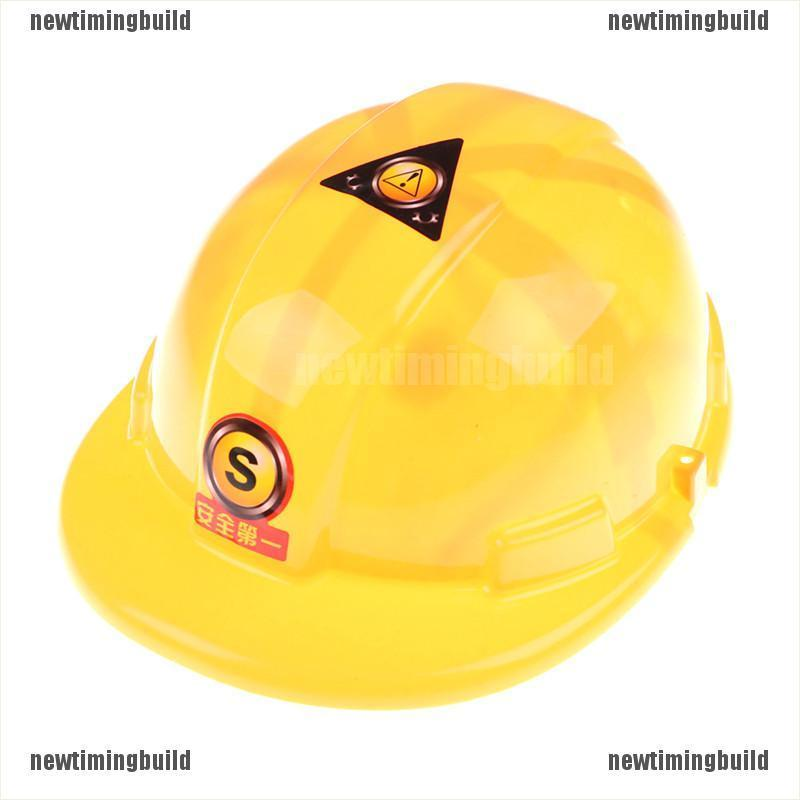 Newtimingbuild 1pc Simulation Safety Helmet Pretend Role Play Hat Toy Construction NTB