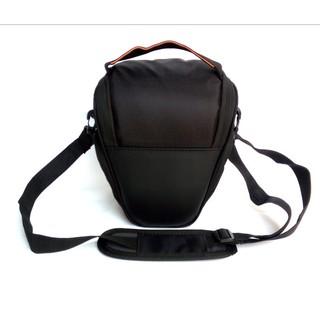 Túi TAM GIÁC đeo hông chống sốc máy ảnh canon nikon sony trơn vách chống dầy có ngăn phụ