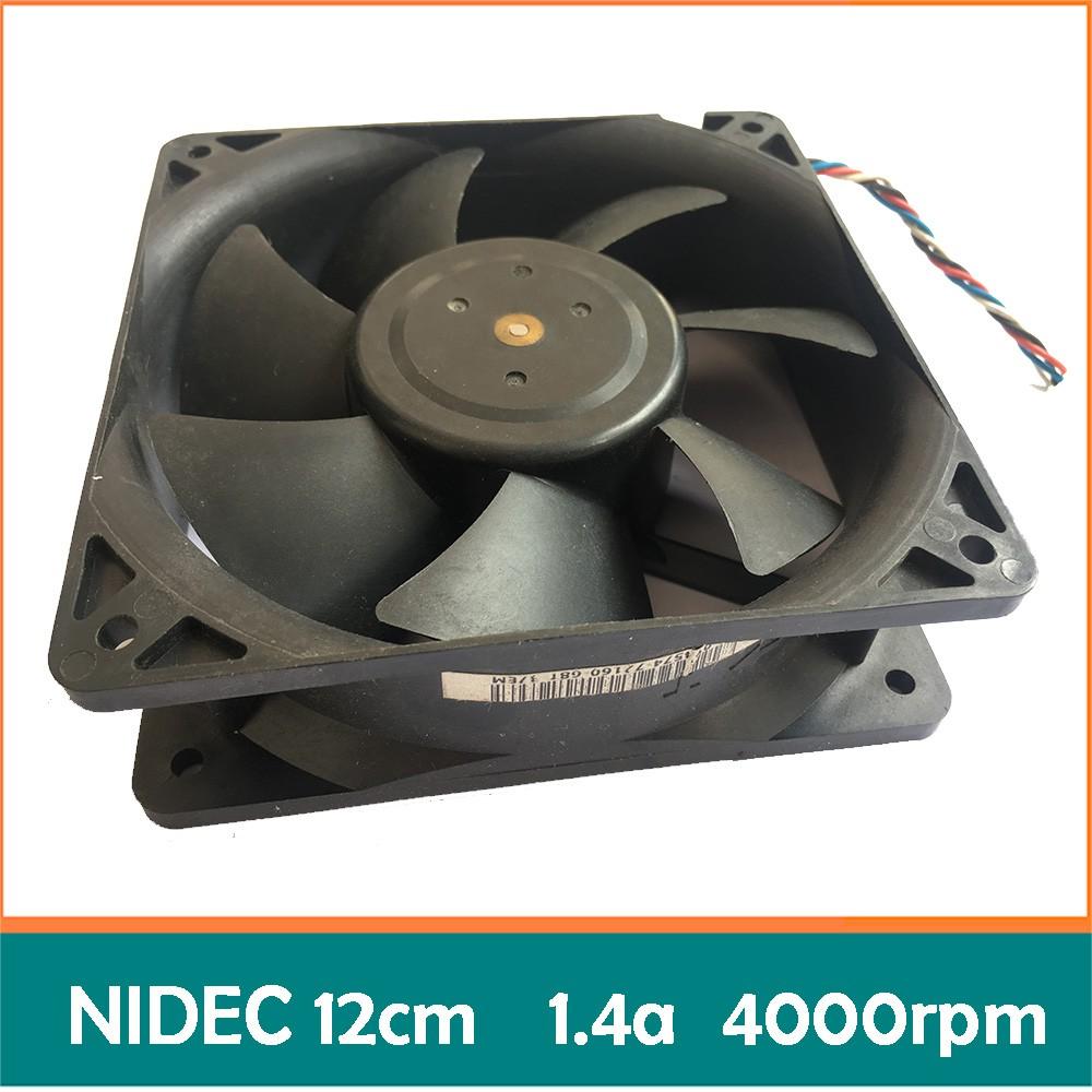 Quạt bi server Nidec 12cm 1.4a bóc máy (Dual ball bearing - 2 vòng/ổ bi) fan tản nhiệt máy c
