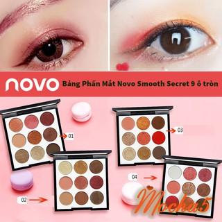 Bảng phấn mắt NOVO SMOOTH SECRET 9 màu cực xinh bảng ô tròn thumbnail