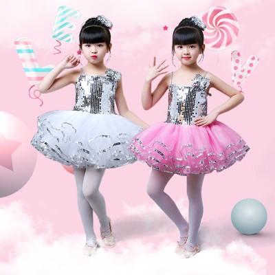 váy múa kim sa bé gái