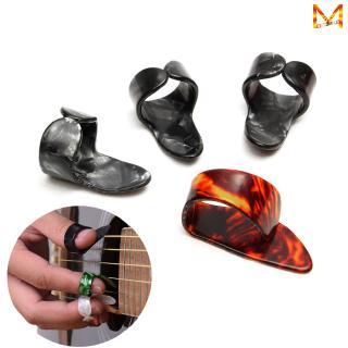 4Pcs/set Celluloid 1 Thumb + 3 Finger Guitar Picks Guitar Plectrums Sheath for Acoustic Electric