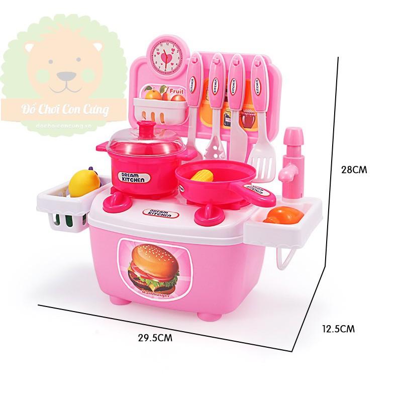 Bộ đồ chơi nhà bếp mini cho bé (bồn rửa có vòi nước)