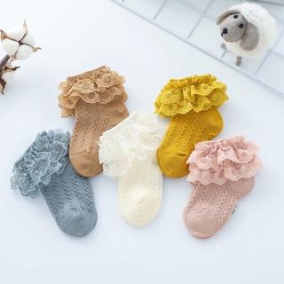 [Mã FASHIONCB44 giảm 10K đơn 0 đồng] Tất cotton phối ren phong cách Hàn Quốc xinh xắn cho bé gái