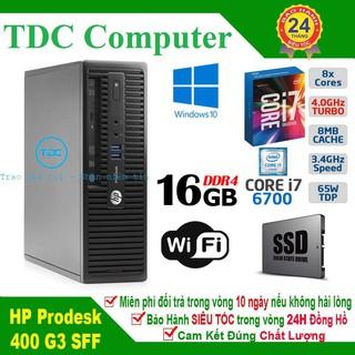 Case máy tính để bàn HP ProDesk 400 G3 SFF main H110, cpu core i7 6700, ram 8GB, SSD 120GB. Hàng Nhập Khẩu.