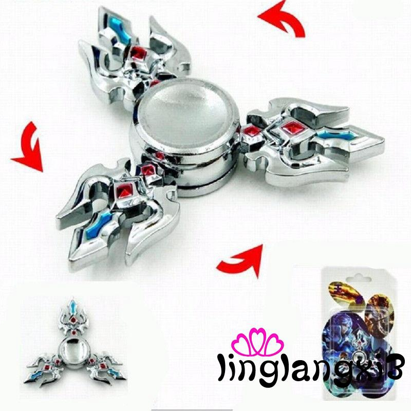 LNG-2017 New Spinning Top Metal EDC Hand Spinner Finger Fidget Hybird Bearing