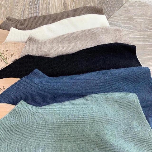 Chip - áo len cổ thấp nhiều màu ngắn tay | BigBuy360