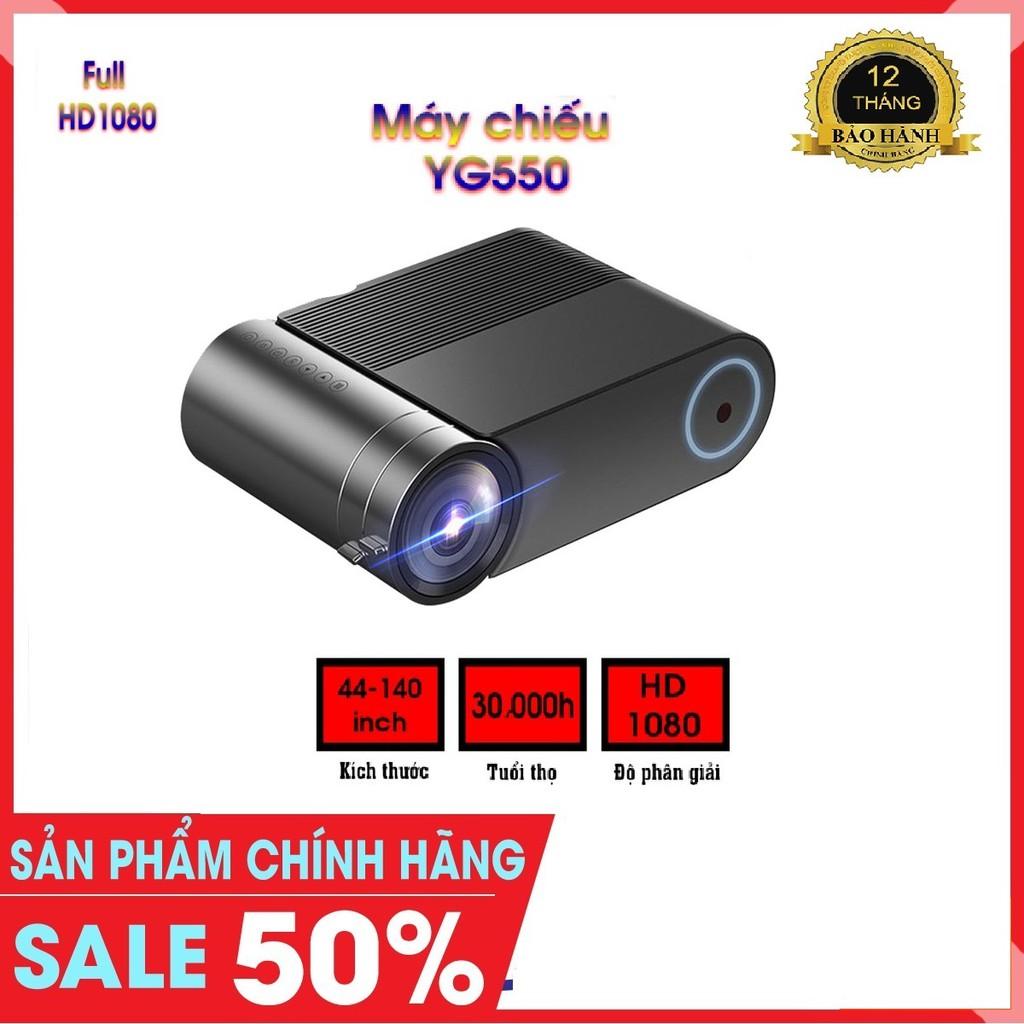 Máy chiếu mini YG550-Full HD 1080-Máy chiếu di động gia đình đa năng siêu nét 2019