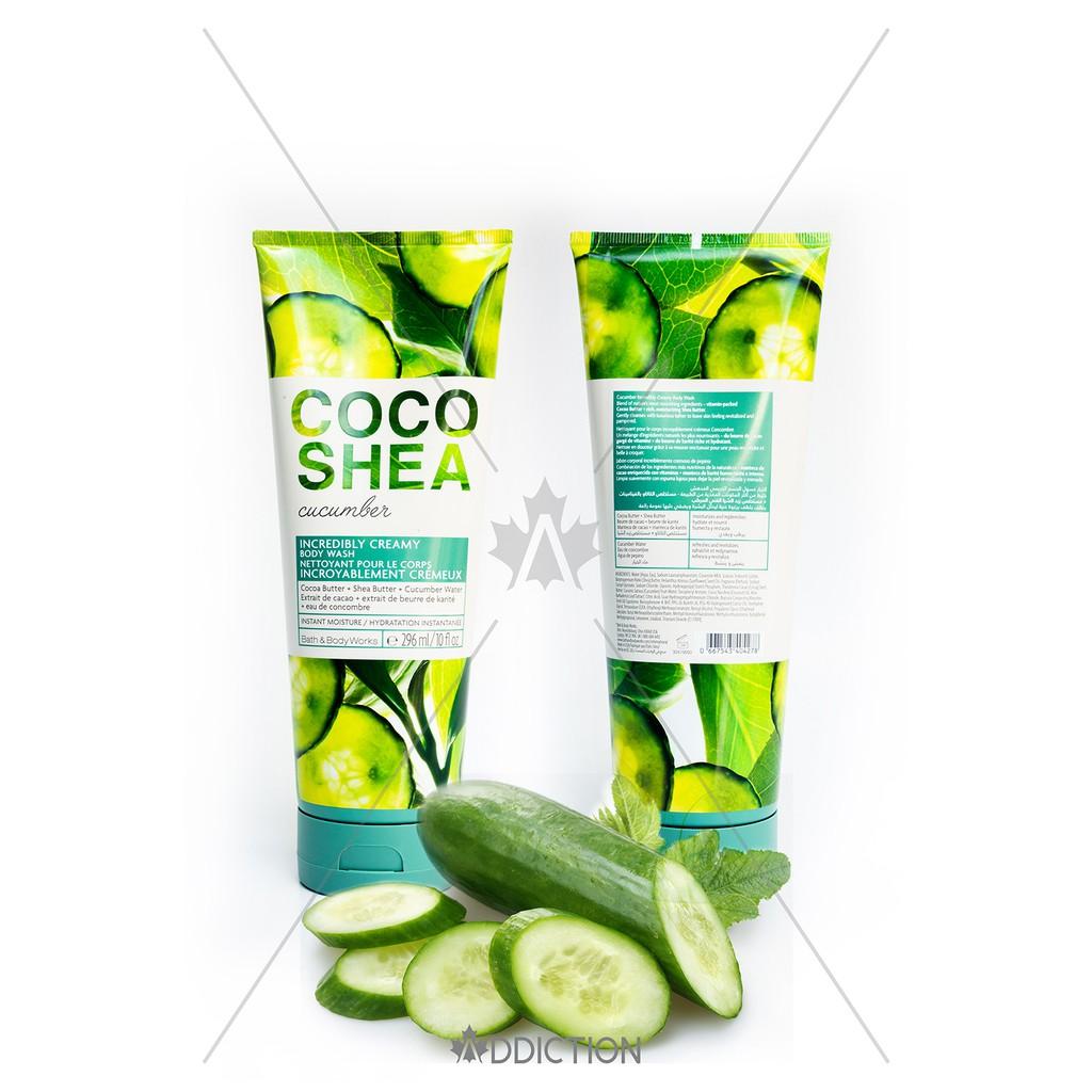 Kem tắm Coco Shea Cucumber - Bath & Body Works (296ml)