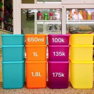 Tupperware – Bộ hộp đa năng Summer Fresh 650ml – 1l – 1.8l