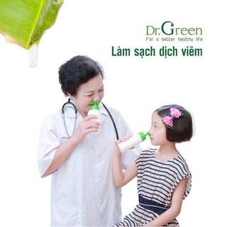 {Hàng chuẩn chính hàng}Bình rửa mũi dr green + 10gói muối lô hội