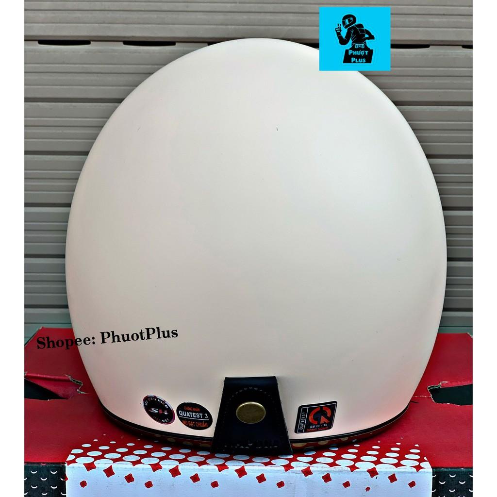 Mũ bảo hiểm 3/4 Napoli Sh Ruby - Màu sữa nhám - Bảo hành 12 tháng