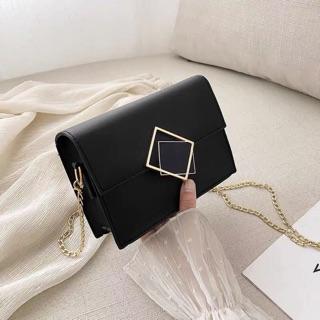 Túi xách nữ 👜 FREESHIP 👜 Túi xách nữ dáng hộp khóa chéo vuông đen phong cách hiện đại