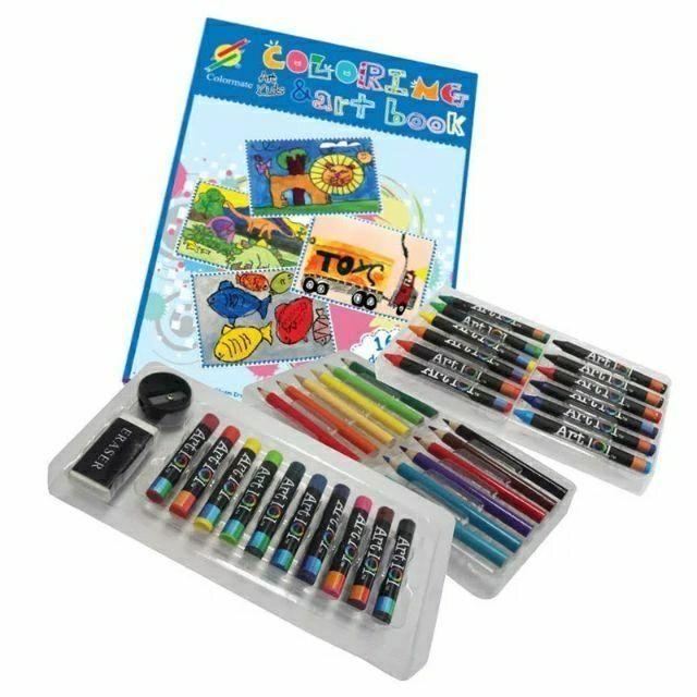 Bộ tô màu tập vẽ đa năng Colormate MS-61 cho bé