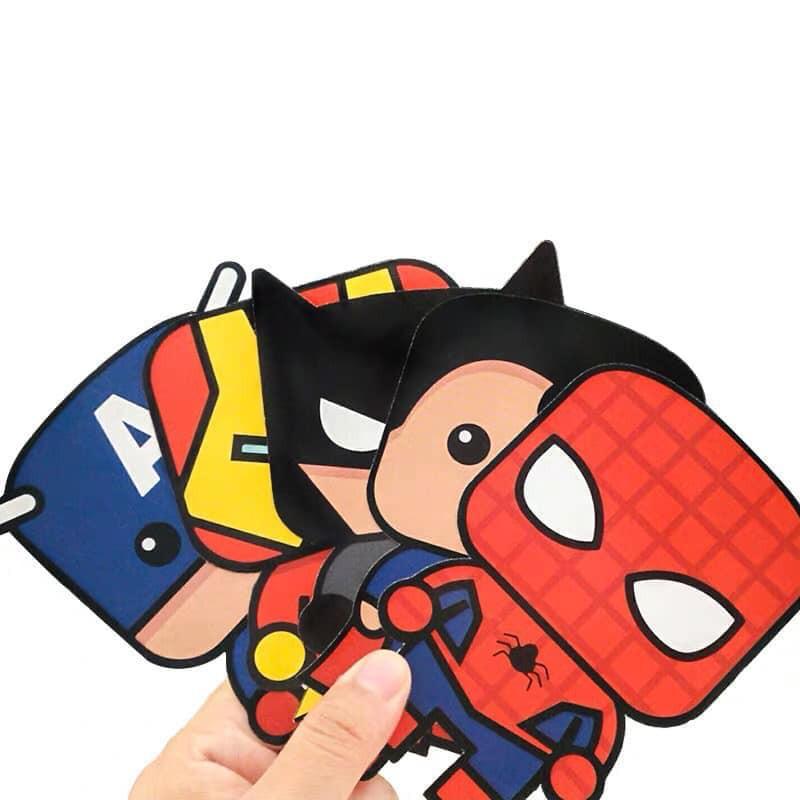 { HOT TẾT } Lì Xì Combo  hình Chi bi Anime,Anh Hùng Avenger Kute hình random - Giá XƯỞNG SỈ LẺ IB SHOP