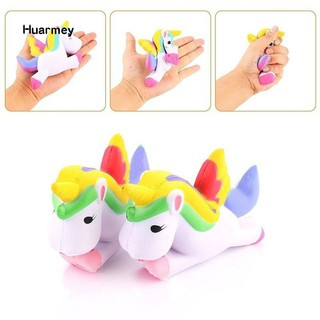 ★Hu 13.5cm Cute Squishy Pegasus Toy Squeeze Relieve Stress Slow Rising Kid Gift MS_451