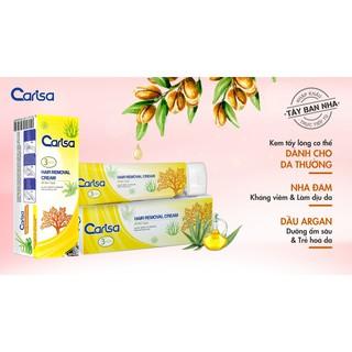 Kem Tẩy Lông Cho Nách, Tay, Chân, Vùng Bikini Carisa Hair Removal Cream 100ml (Tây Ban Nha)