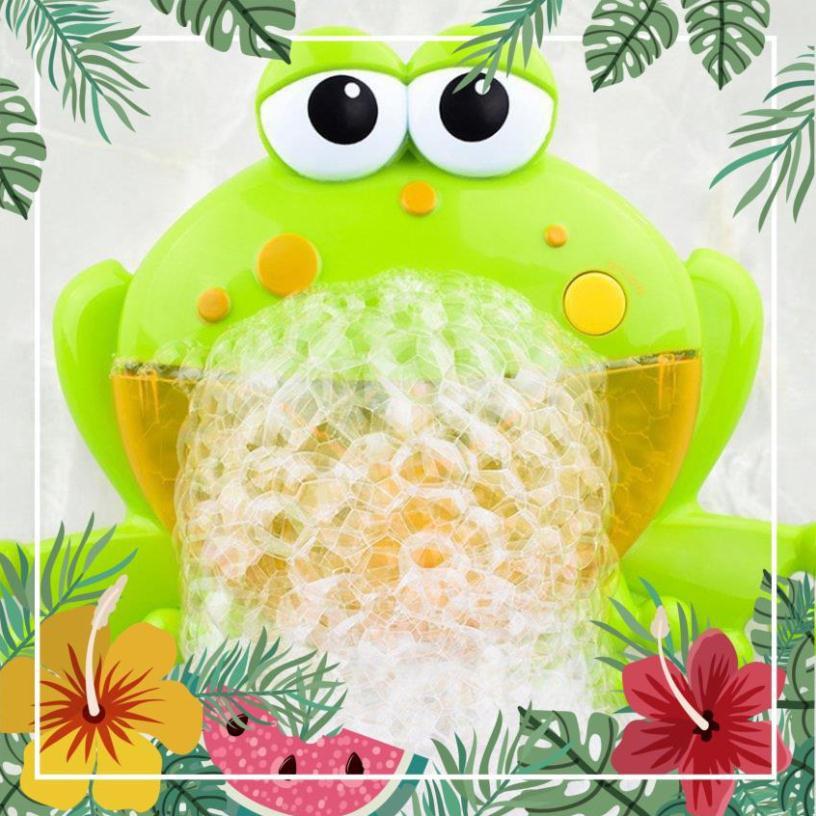 [ Fast24h ] Máy tạo bọt thổi bong bóng hình con ếch đáng yêu – có nhạc cho bé [ Hot ]