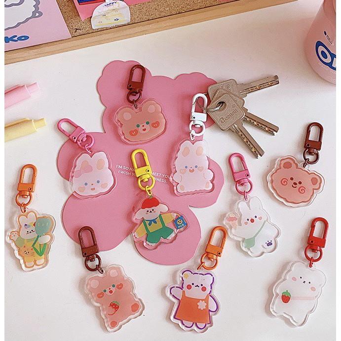 Móc khóa nhựa 2 mặt họa tiết hoạt hình dễ thương Sumi